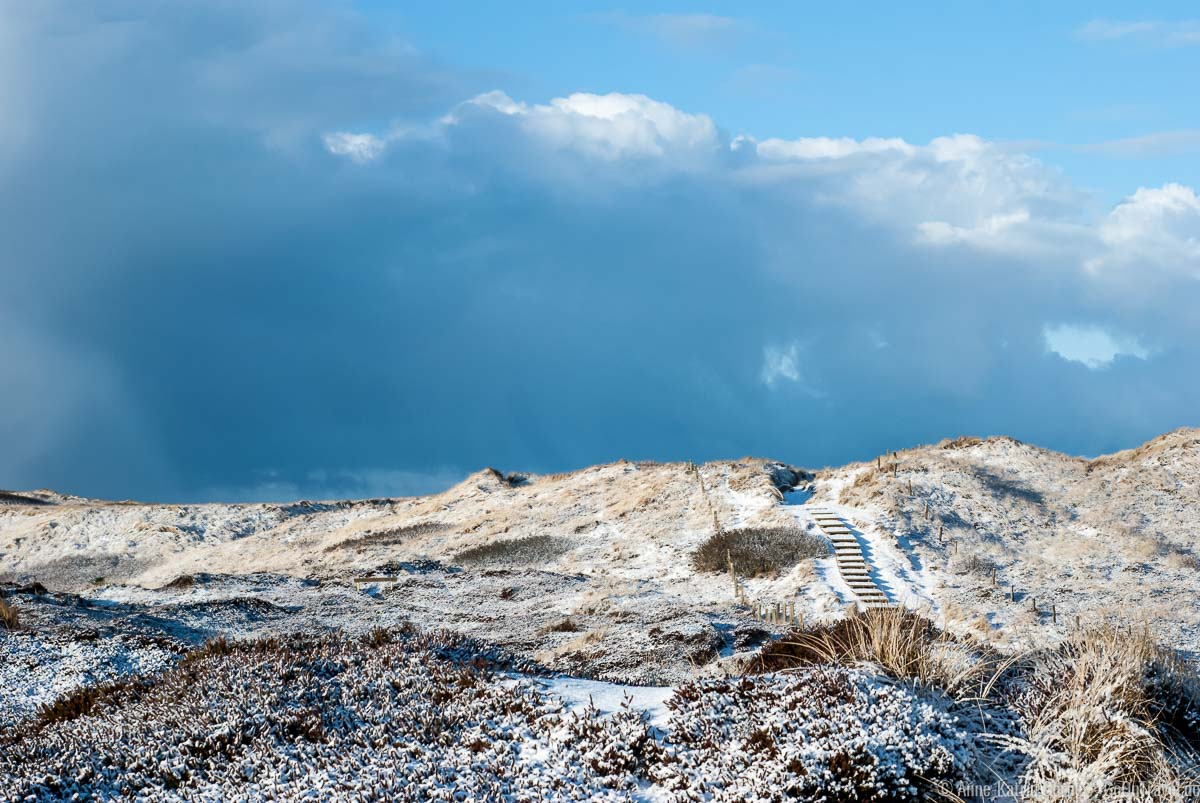 Strandübergang Baakdeel im Winter