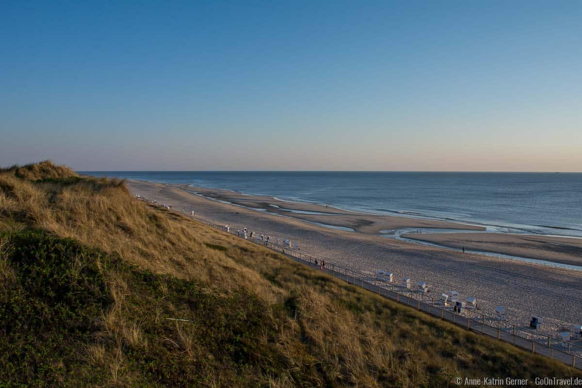Abendstimmung am Strand von Westerland