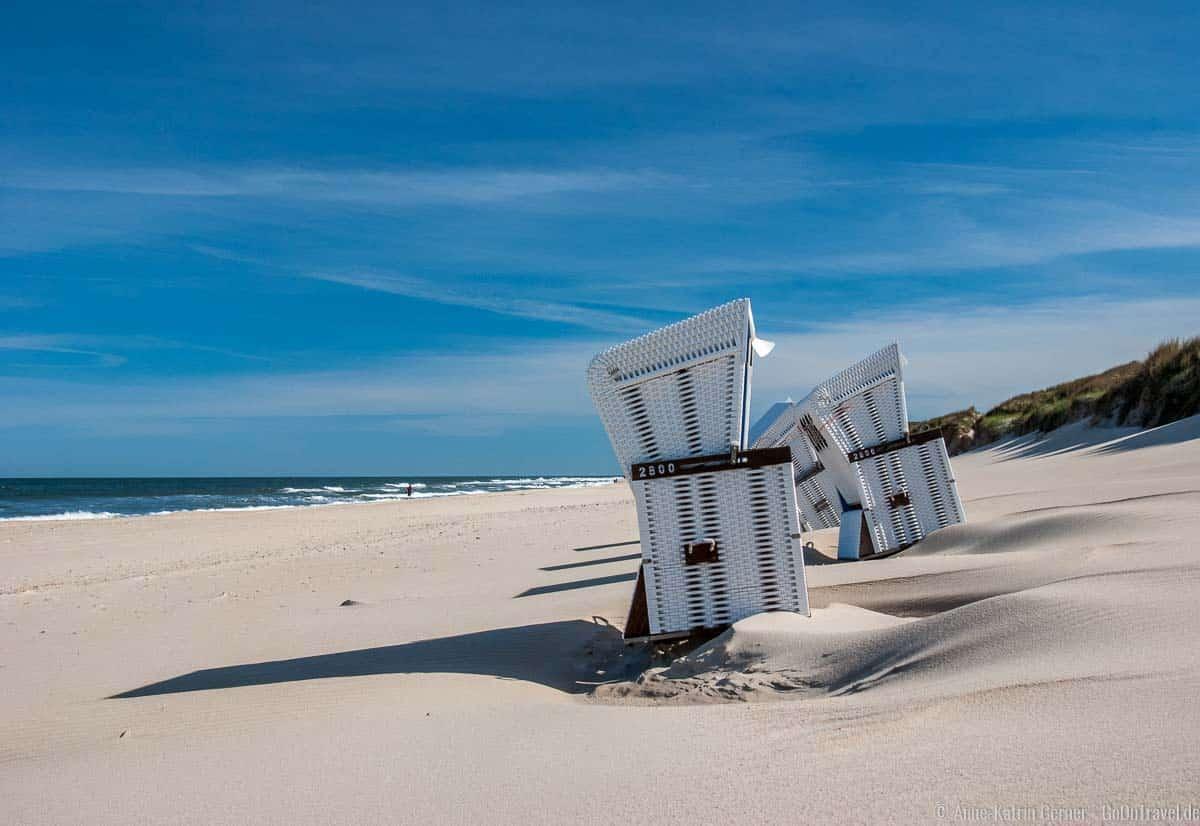 Sandverwehungen am Strand Südwäldchen