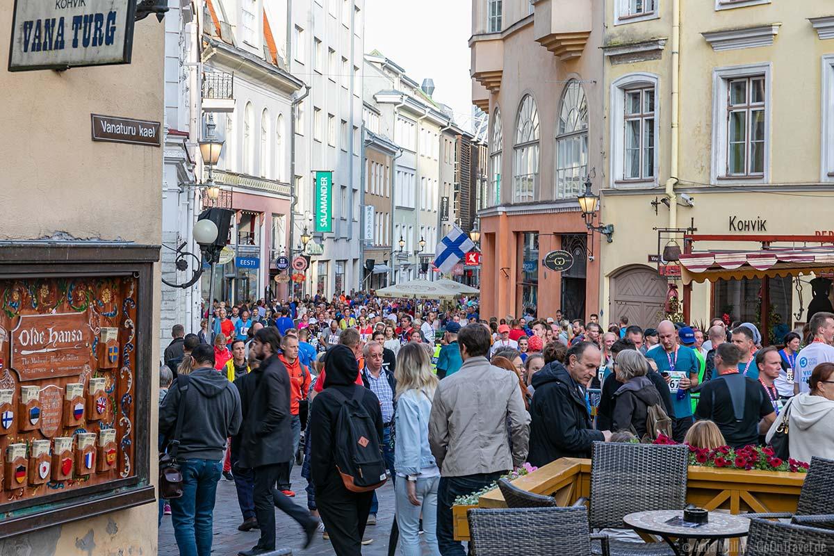 Volle Straßen und Gassen beim Tallinn Marathon 2019