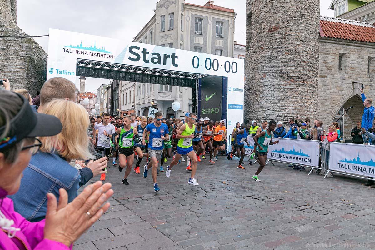 Start vom Tallinn Marathon 2019
