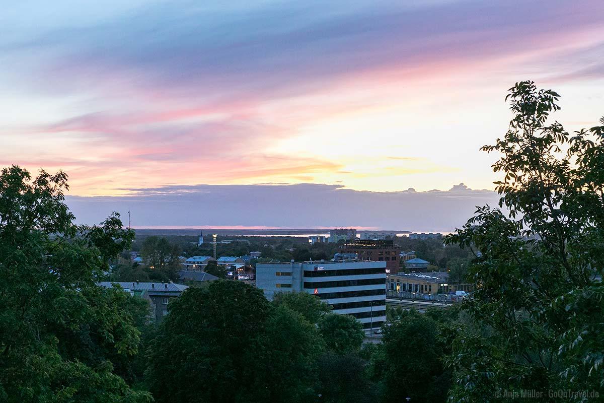 Die Piiskopi Aussichtsplattform zum Sonnenuntergang