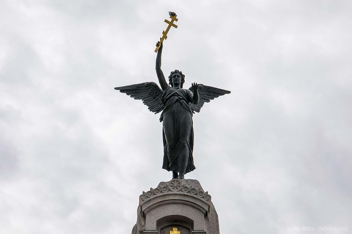 Nahaufnahme von der Russalka Statue