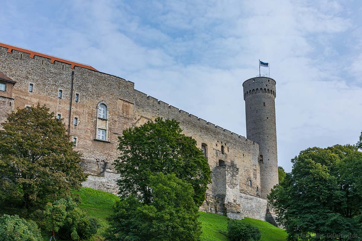 Das Schloss von Tallinn mit dem Langer Hermann Turm