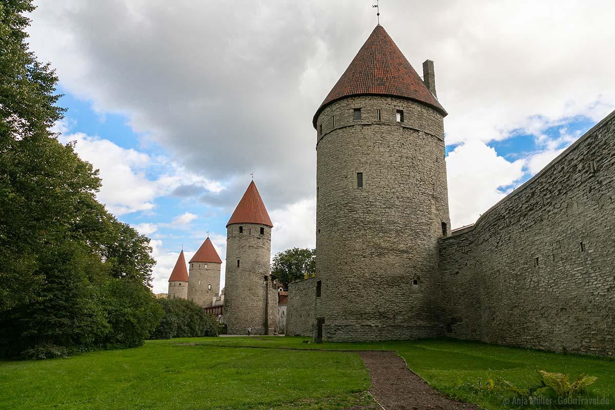 Die Stadtmauer mit ihren Türmen