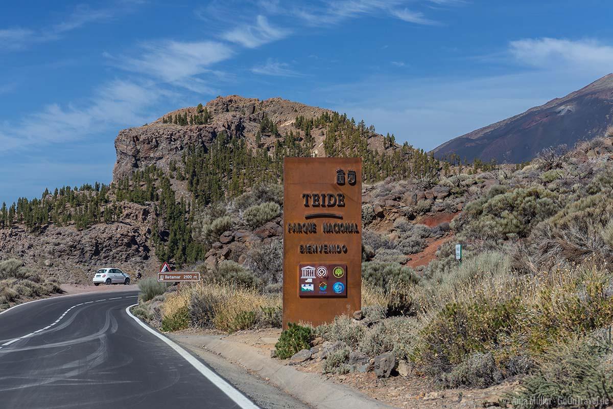 Der Eingang des Teide Nationalpark