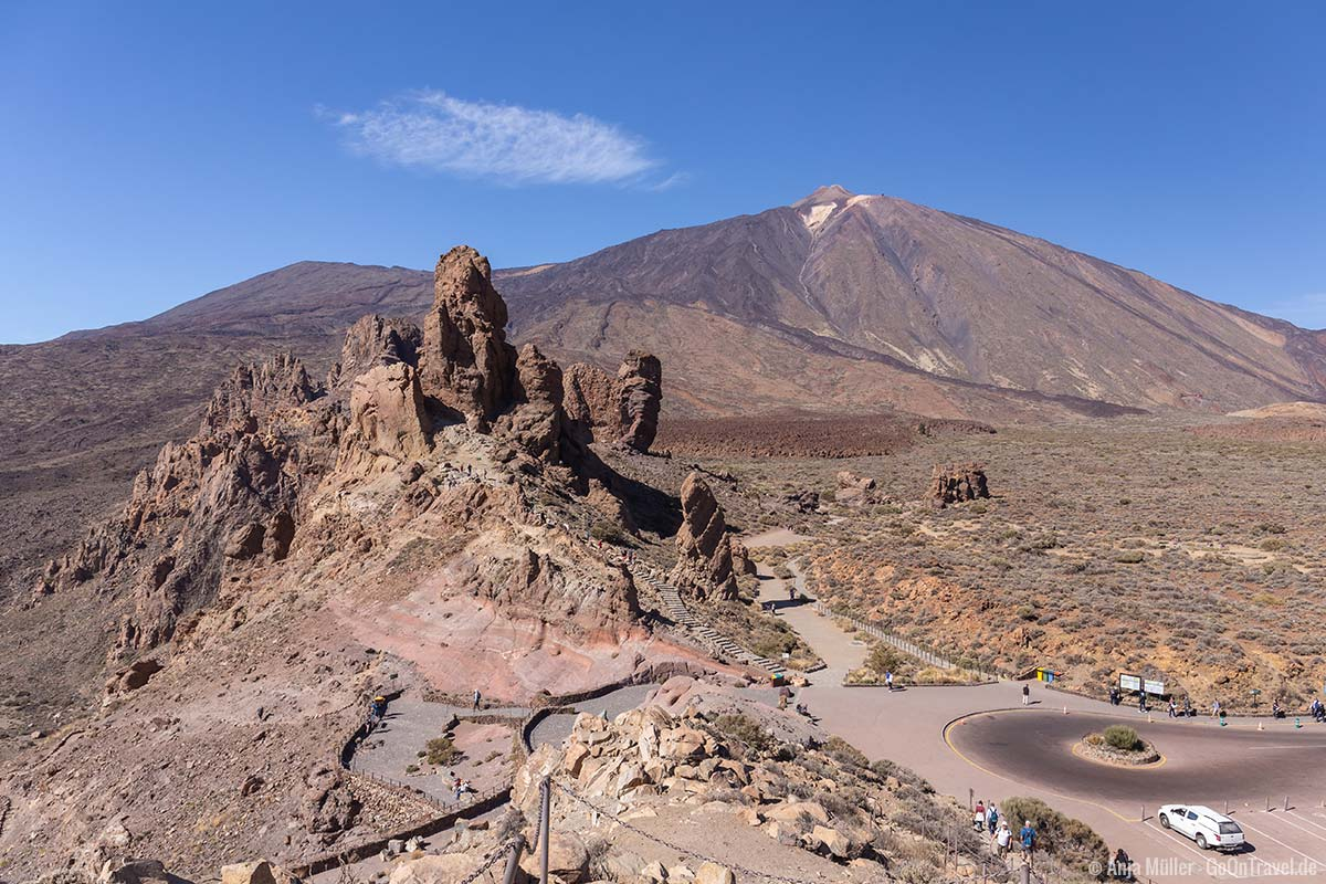 Blick auf den Roques de Garcia