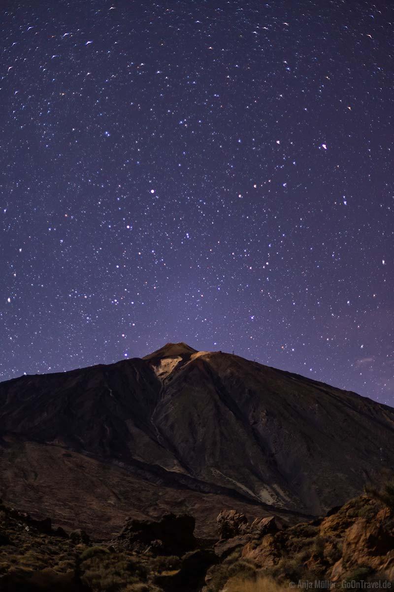Sterne über dem Pico del Teide