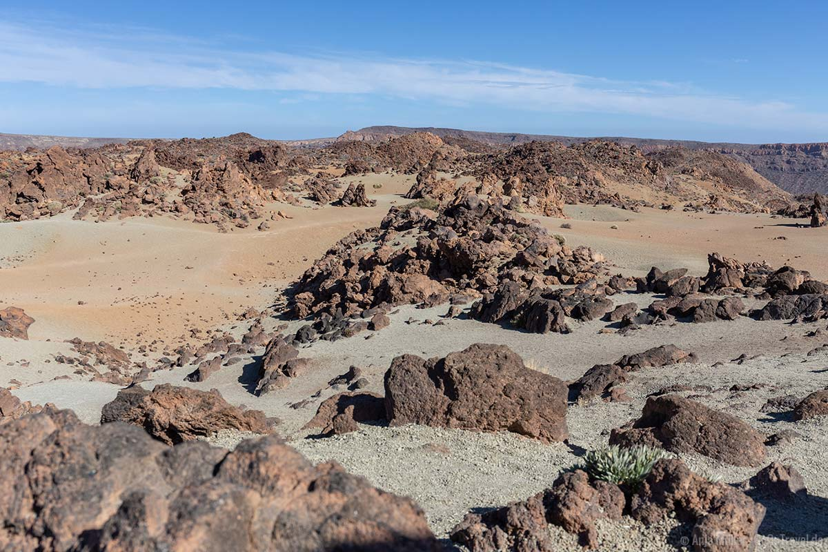 Die vulkanische Sandbank Minas de San Jose