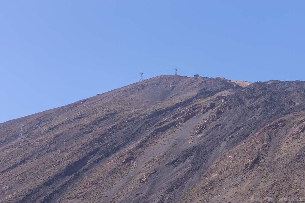 Blick auf den Gipfel des Pico del Teide