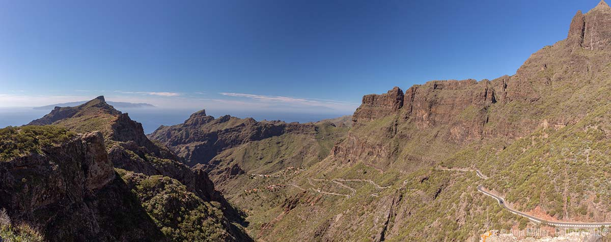 Panorama Blick auf das Teno-Gebirge