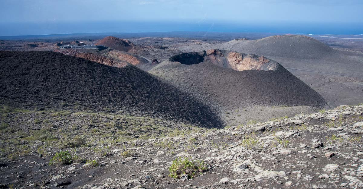 Kraterlandschaften mit Meerblick