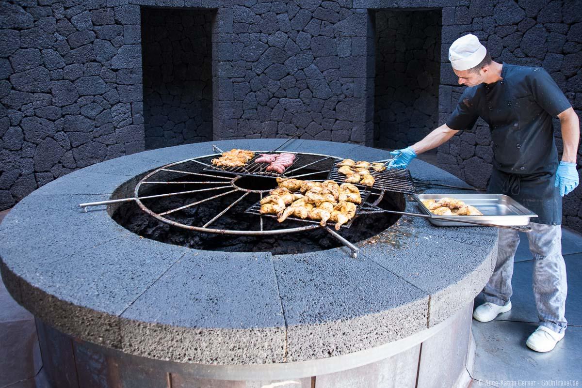 Grillen mit vulkanischer Hitze im El Diabolo
