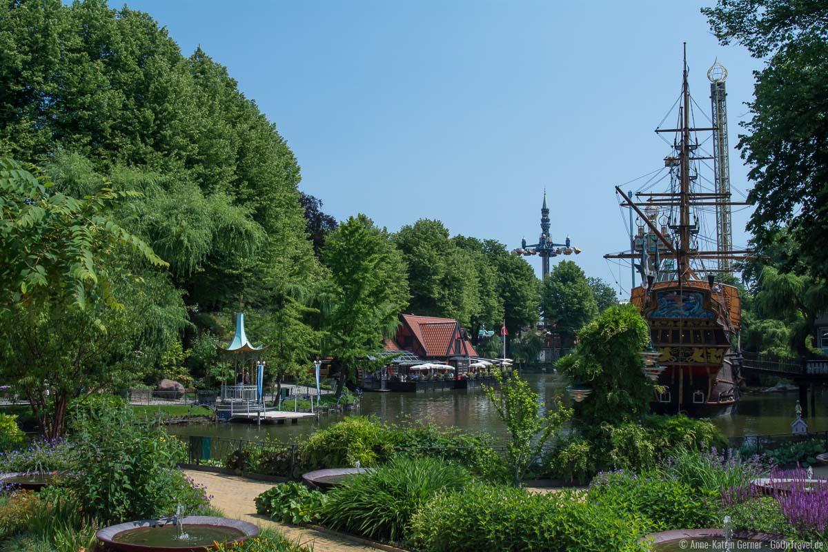Wunderschöne Gartenanlage am Tivoli-See.