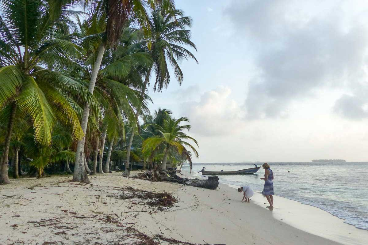 Strand auf einer der San Blas Inseln