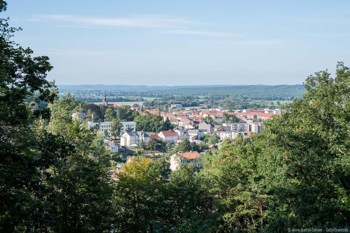 Blick vom Aussichtsturm über die Stadt
