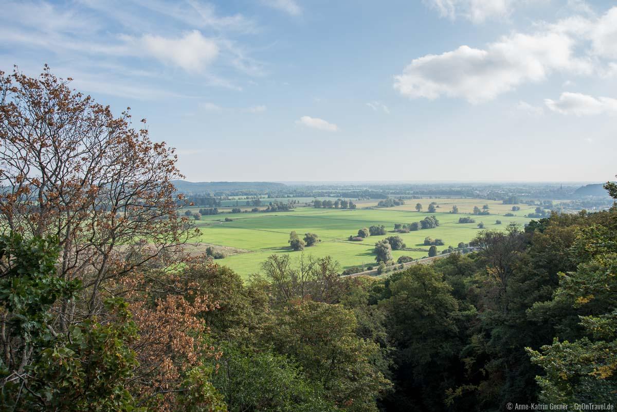 Herbstlicher Ausblick vom Bismarckturm nach Norden