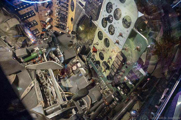 Ein Blick in eine Weltraumkapsel