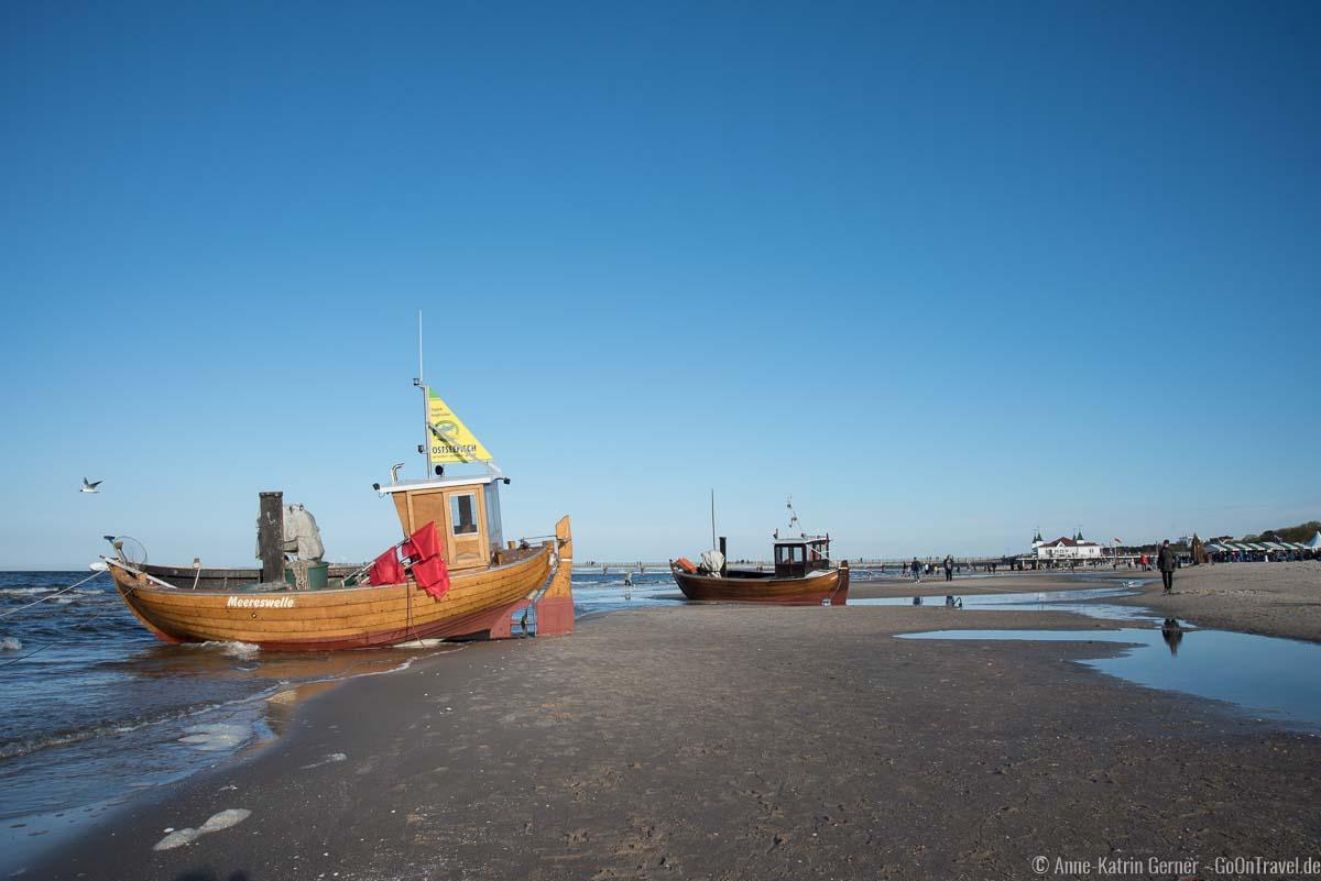 Fischerboote in Ahlbeck