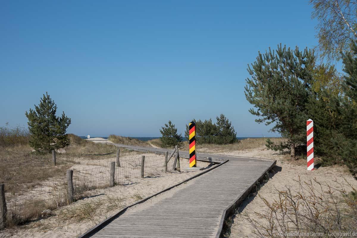 deutsch-polnischer Strandübergang