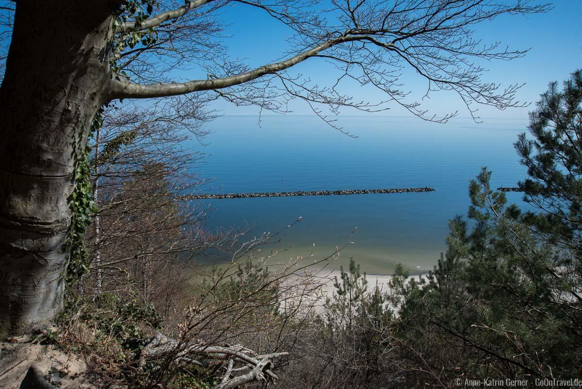 Blick vom Streckelsberg auf die Ostsee