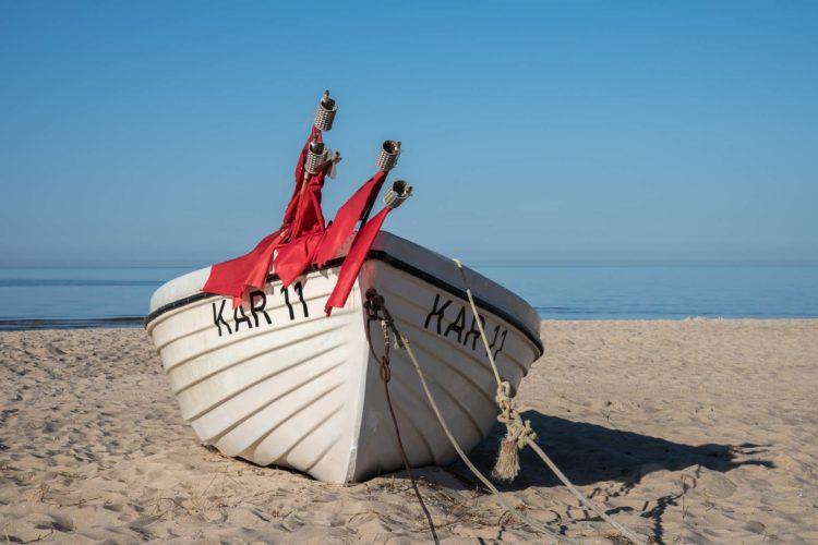 Usedom Sehenswürdigkeiten Fischerboot Strand