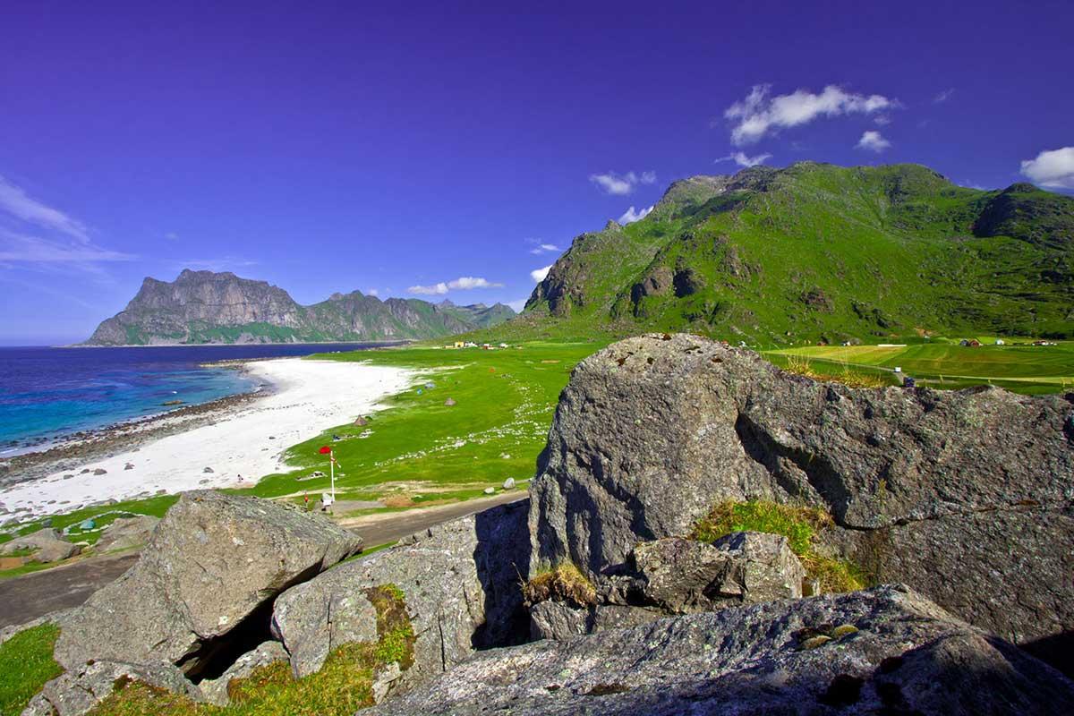 Uttakleiv Beach in Norwegen