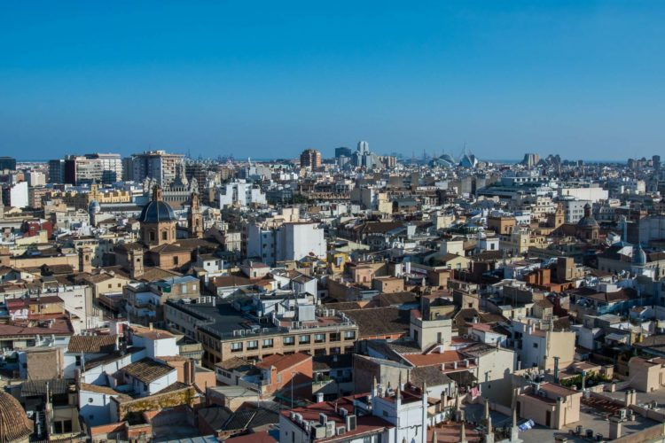 Valencia Aussicht von oben