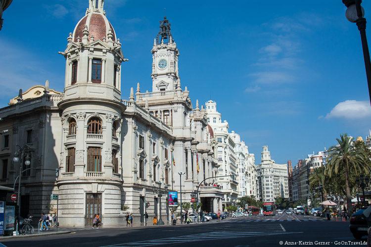 Das Rathaus von Valencia