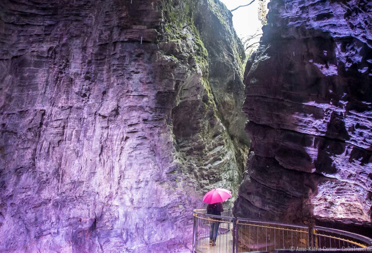 Schlucht zum Varone Wasserfall