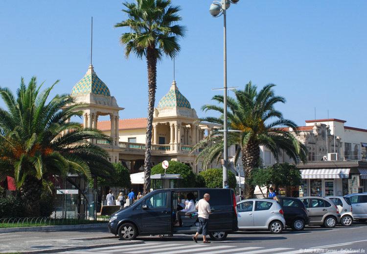 Die Palmenpromenade von Viareggio