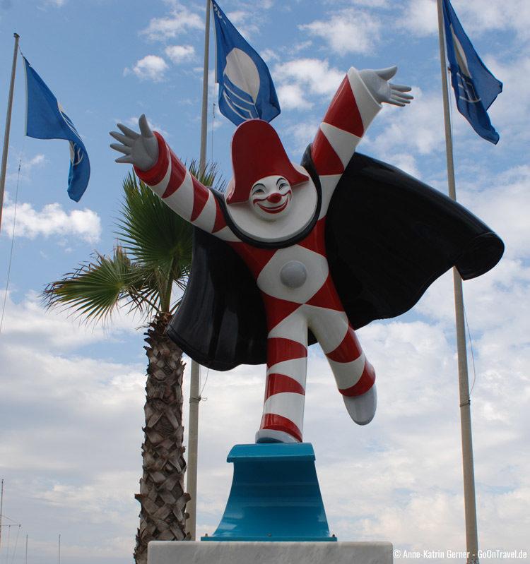 Burlamacco ist die Karnevalsfigur von Viareggio