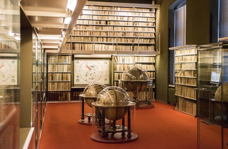 Globensammlung in der Herzog August Bibliothek