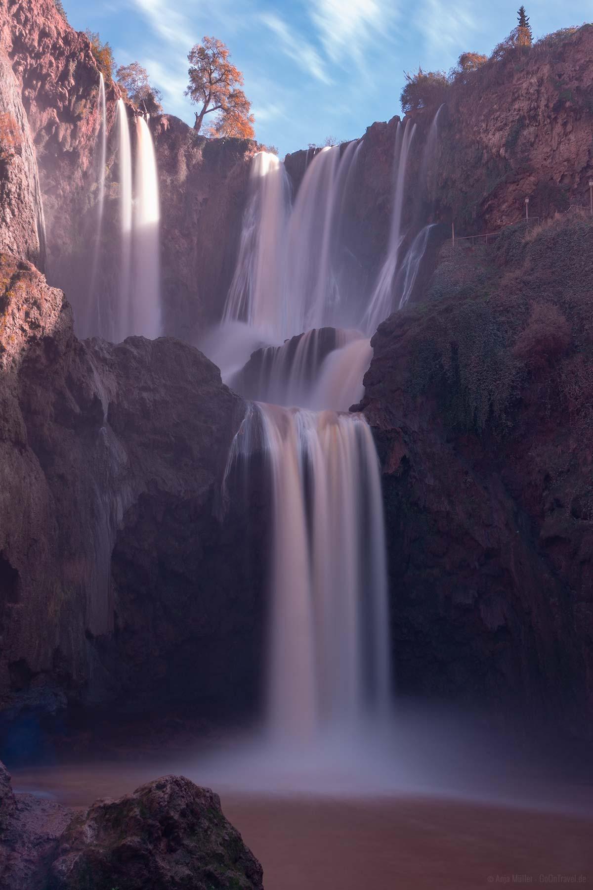 Wasserfall Langzeitbelichtung in Marokko