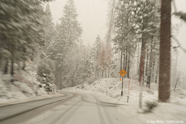 Winterlandschaft im Yosemite National Park
