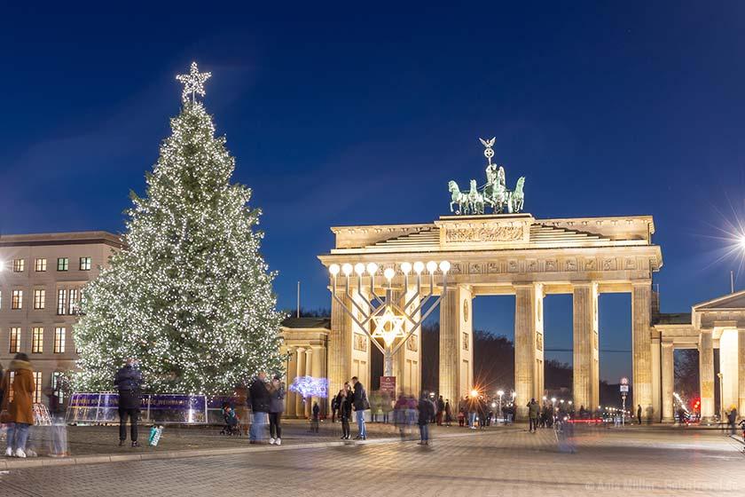 Weihnachten am Brandenburger Tor