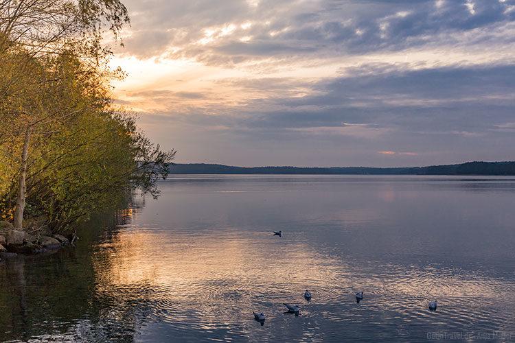 Sonnenuntergang am Werbellinsee