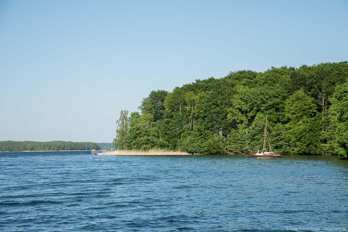Blick auf dem Werbellinsee vom Südufer
