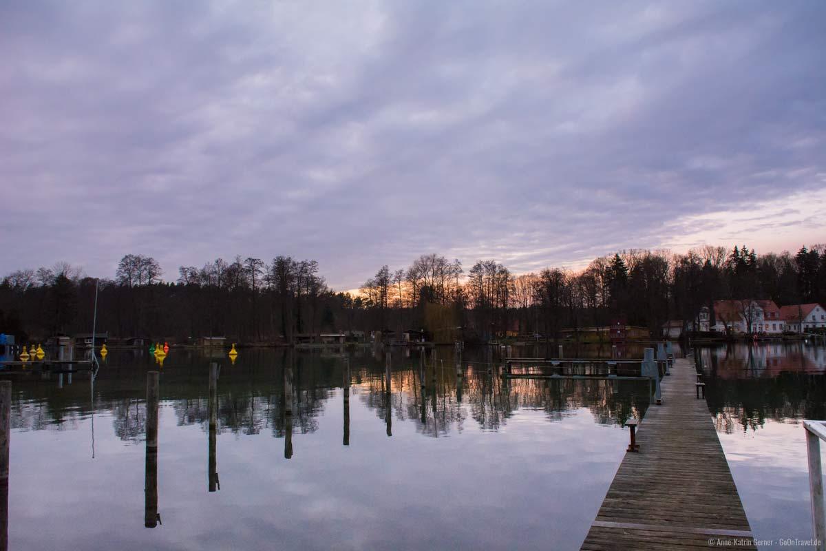 Südufer des Werbellinsees im Winter