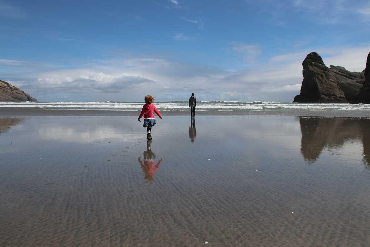 Wharariki Beach Neuseeland