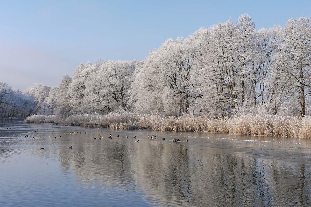 Der Finowkanal ist zu jeder Jahreszeit schön