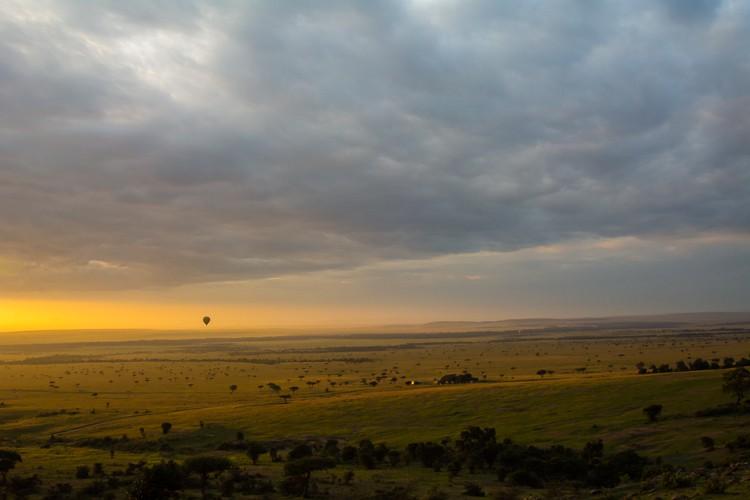 Sonnenaufgang über dem Mara Triangle