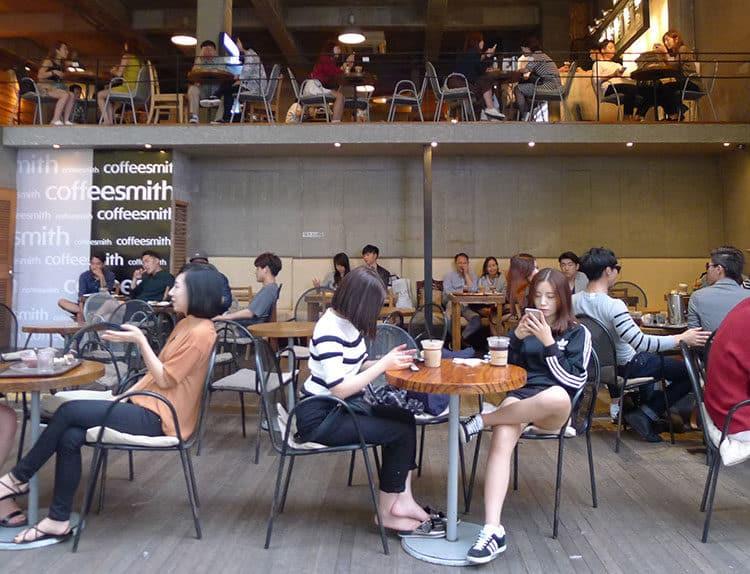 Koreaner lieben Kaffee