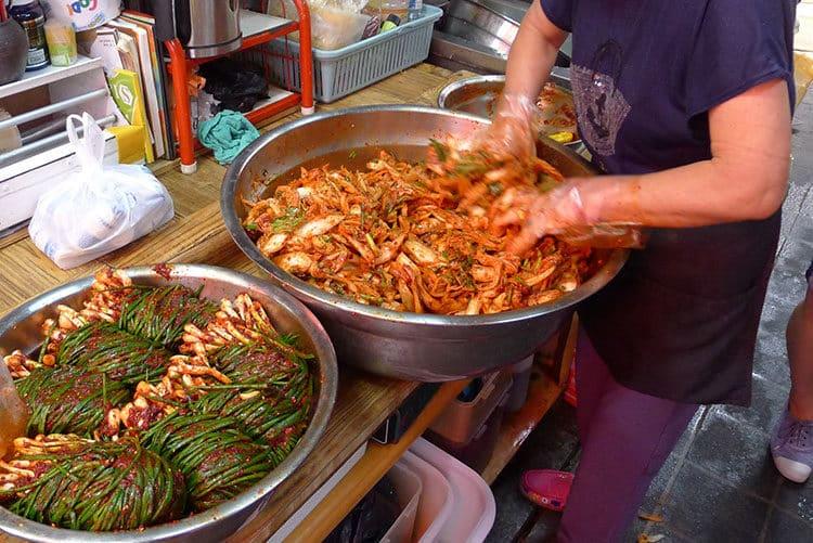 Zubereitung von Kimchi