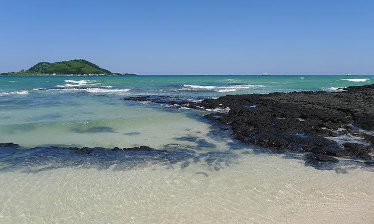 Strand von Jeju in Korea