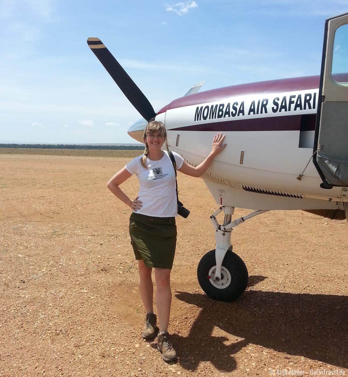 mit dem Buschflieger ins Safari Abenteuer
