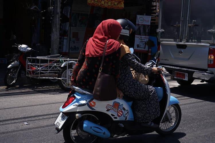 Typisches Fortbewegungsmittel in Thailand: Motorroller