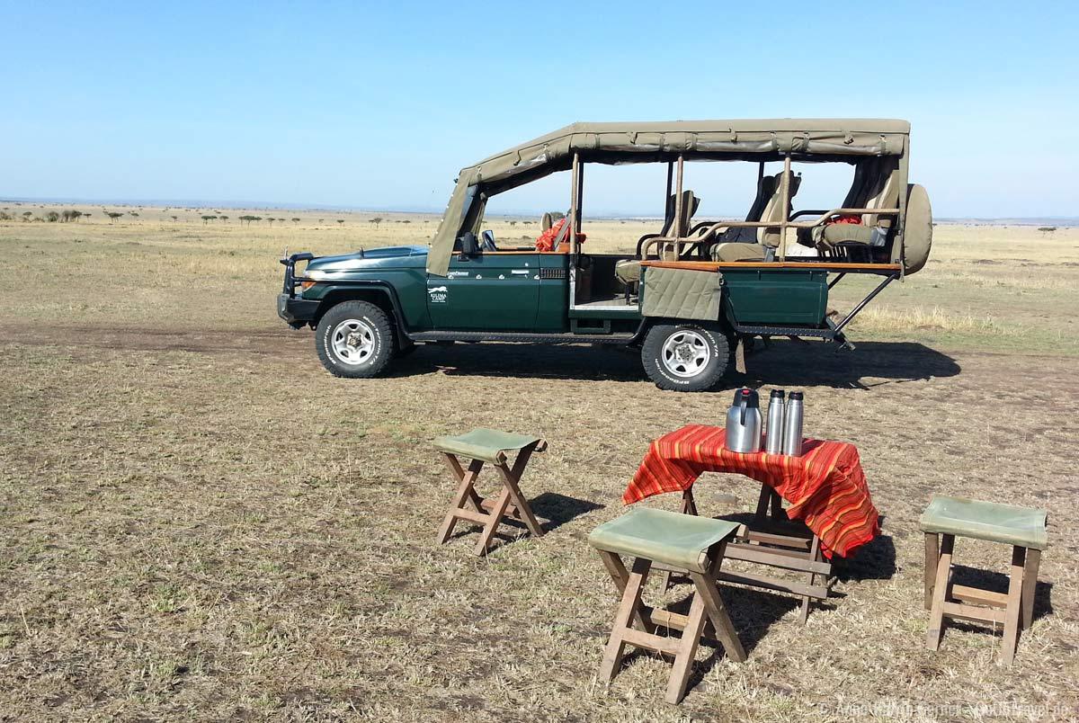 offener Safari Geländewagen