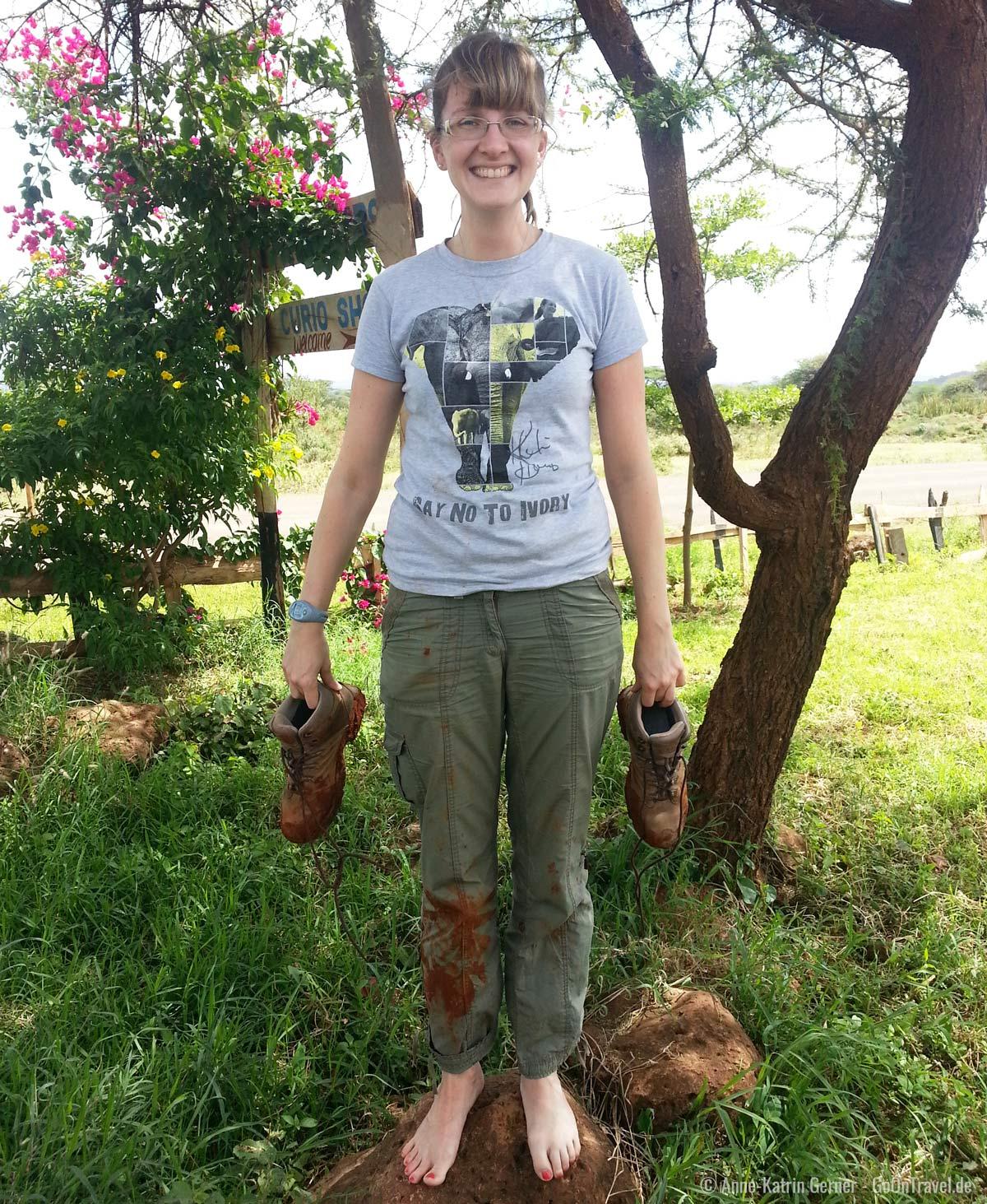 Härtetest für jede Safari Kleidung: der rote Schlamm von Tsavo