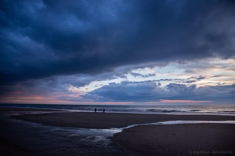 Am Strand von Westerland auf Sylt.